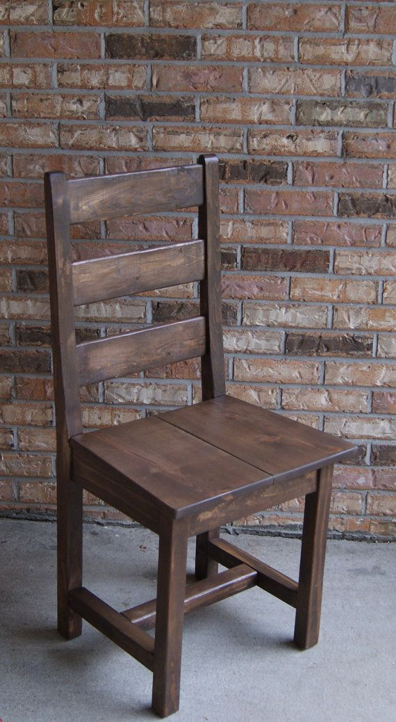 Chair, Farm Chair, Ladder Back Chair, Wooden Chair, Stained Chair, Painted Chair - made to order $175
