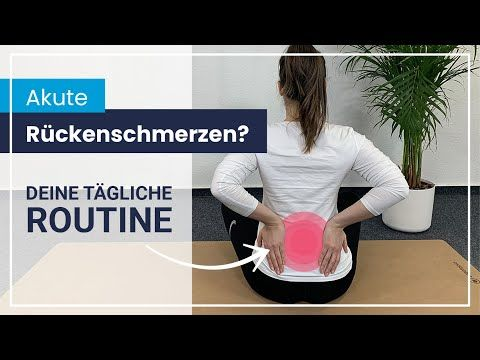 Akute Rückenschmerzen ️ 5 Übungen für maximale Entspannung..