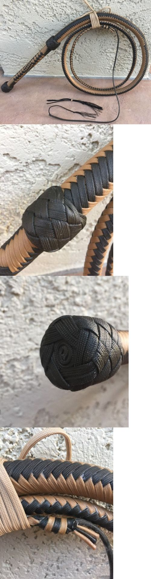 Other Training Equipment 183426: 6 Foot Waxed Dark Brown And Tan Paracord, Nylon Bullwhip With Extra Crackers -> BUY IT NOW ONLY: $160 on eBay!