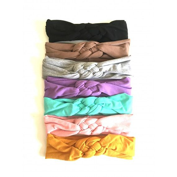 Looking for the perfect headband?  Look no further! Our love knots are stylish, comfortable, and affordable. Made of soft and stretchy spandex jersey knit, these will quickly become your favorite headband! These can be machine washed and worn over and over again.  Color choices: Black, Mocha, Mustard, Dusty Rose, Heather Gray, Lilac, and Mint  For more styles: https://www.etsy.com/shop/piecestopeaces  *Pieces To Peaces Sizing*  One Size Fits Most are approximately 18.5 (turban is slightly…