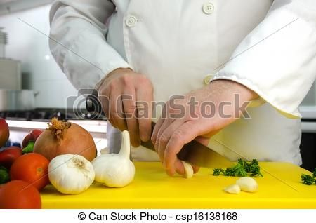 #Chef #hands with #garlic - csp16138168
