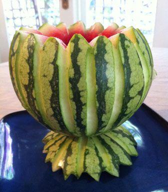 fruit display fruit punch bowl