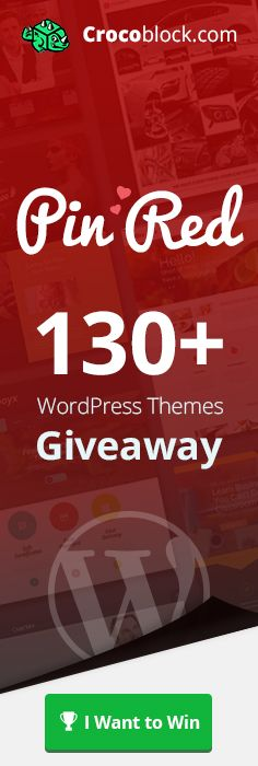 Pin 2 Crocoblock themes which include RED COLOR and get a chance to win 130+ #blog #WordPress #themes!