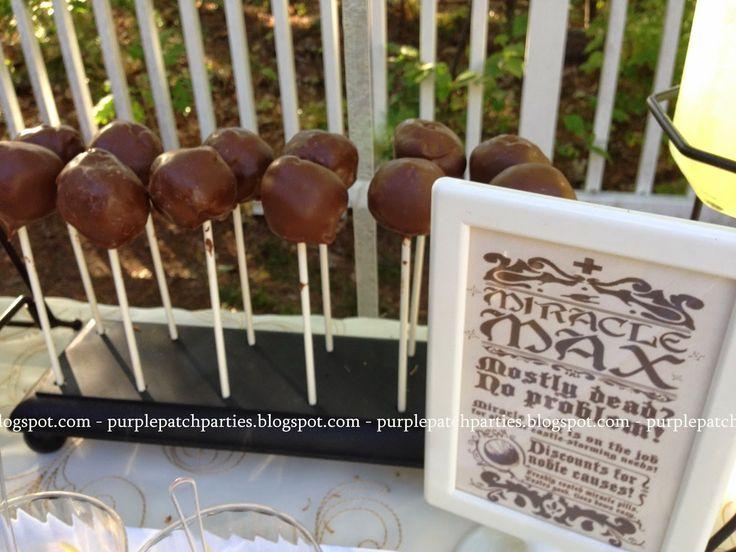 Princess Bride Backyard Movie Night Party ~ Miracle Max Pills