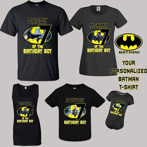 Batman Birthday Shirt Superhero Party Personalize Boys Clothes Toddler Boy