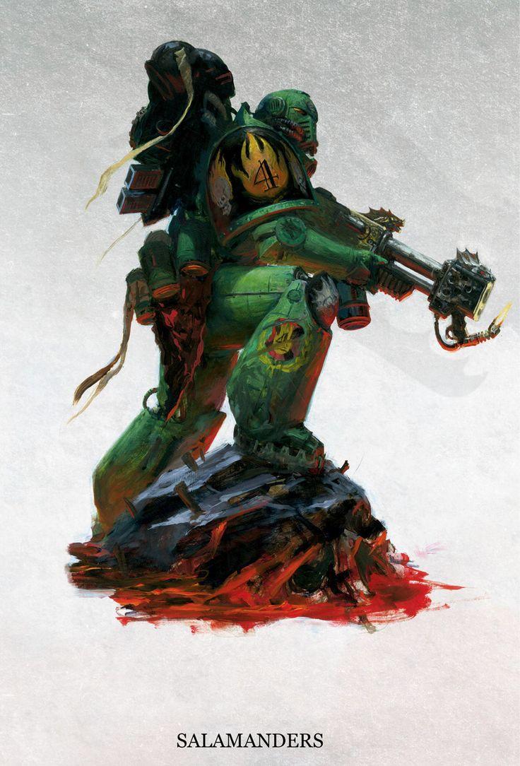 Salamander Kl Character Design Warhammer 40k