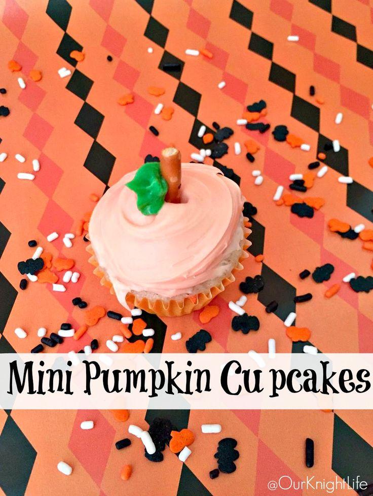 Mini Pumpkin Cupcakes - Pillsbury Funfetti Baking Mix & Frosting