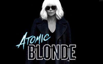 Scarica sfondi Atomic Bionda, 2017, Charlize Theron, i Nuovi film, il poster Americano di spionaggio thriller