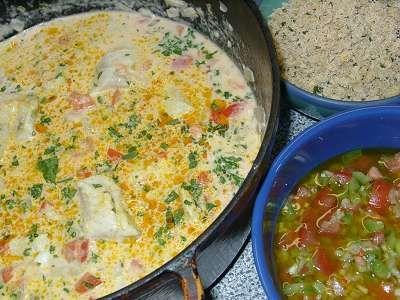 MOQUECA BAIANA DE PEIXE (Bahianischer Fischtopf mit Kokosmilch)