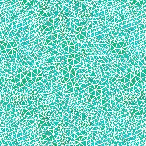 Triangles: Turquoise - Geninne D. Zlatkis - Alegria - Cloud 9 - Quilting Fabric