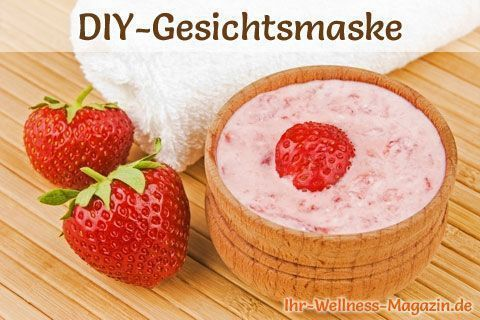 Make face mask for pimples yourself - recipe and instructions - #Instruction #ge ...  -  Hautpflege-Rezepte