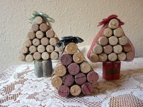 ▶ Kreatív ötletek Karácsonyra - Parafa karácsonyfa - YouTube