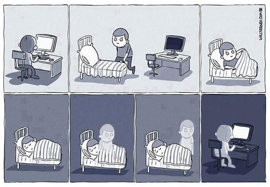 ¿Cómo duerme un diseñador freelance?