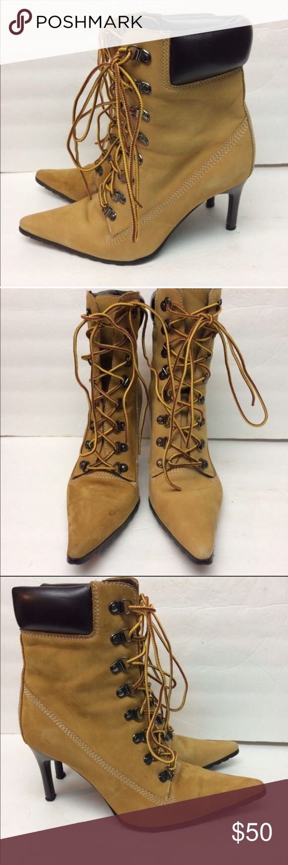 Nine West Heeled Timberland style (Not Timberland) brand new heeled boots!!! Timberland Shoes Ankle Boots & Booties