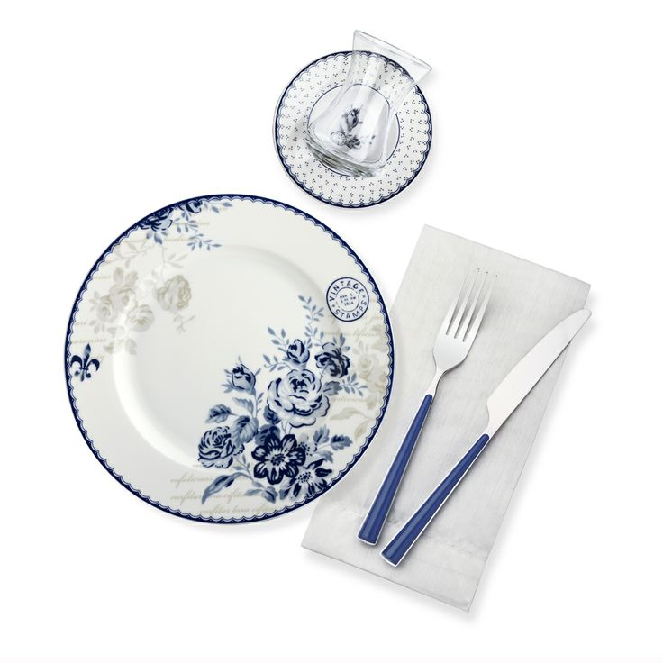 Bernardo Vintage Blue Kahvaltı Takımı / Breakfast Time #bernardo #breakfasttime #teatime #vintage #flower #mavi #tabledesign