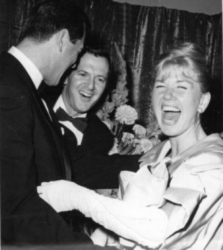 Doris laughing with Rock Hudson and Tony Randall. So cute!