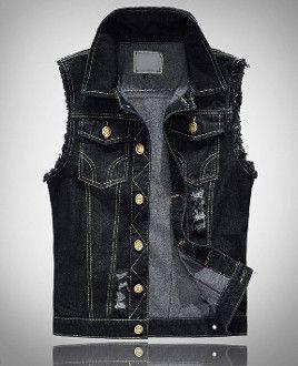 Halloween SALE! Ends 10/31st Men's Denim Black Vest now on sale! Buy direct at Amtify and get $13 off instantly! Material : Denim Color : Black Size : XS, S, M, L XS Chest : 96 cm / 37.44 in - Shoulde