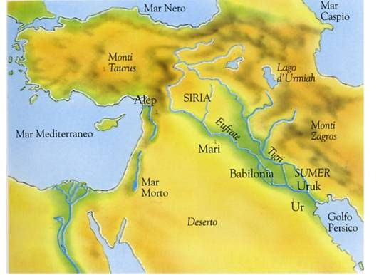 I Sumeri: cartina geografica