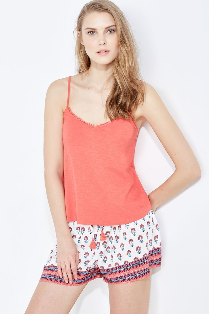 Pijama curto gravateiro (coral): WOMEN'S SECRET (19,99€) ✓