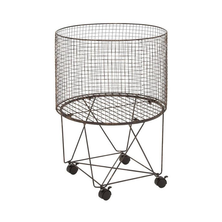 Keep your hamper on the move with this clever basket on wheels. Or maybe use it to store shoes, blankets, anything really. The wheels are turning on this basket.  Find the Wheelin' Around Storage, as seen in the #TheNewLuxe Collection at http://dotandbo.com/collections/the-new-luxe?utm_source=pinterest&utm_medium=organic&db_sku=94679