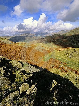 The lake district national park, cumbria, uk - the duddon valley, dunnerdale