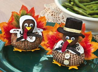 How cute are these? Turkey pilgrims.