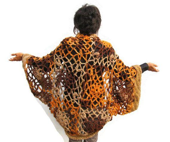 Crochet Lace Sweater Vest Womens Crochet Cardigan by KrissWool