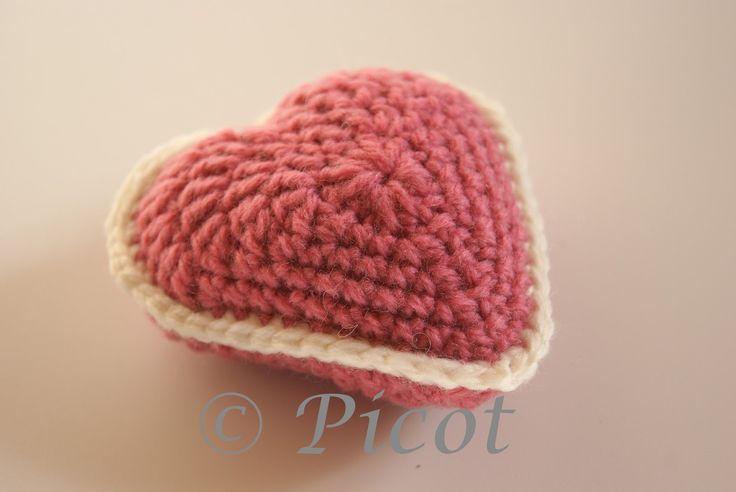 Picot - Szydełkowe Inspiracje: Szydełkowe serce