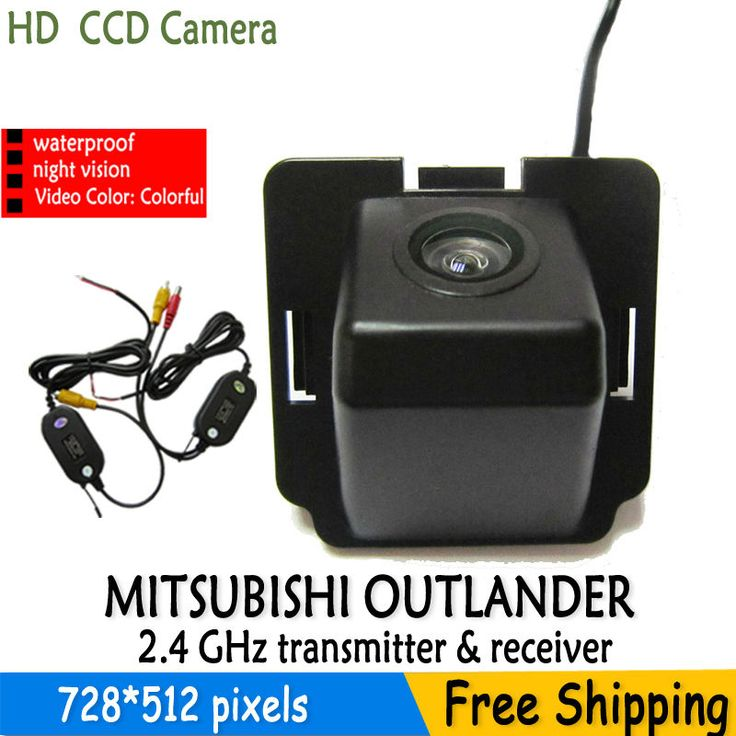 wireless car parking in rear view camera with parking liens night vision waterproof HD CCD for Mitsubishi Outlander 2007-2010