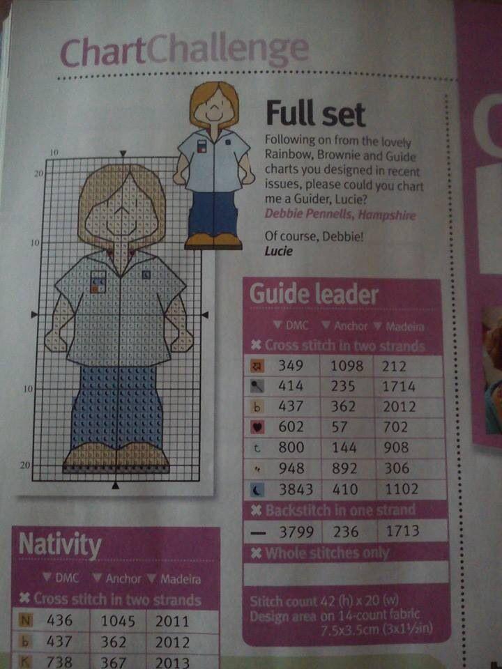 Rainbow/brownie/guide leader cross stitch