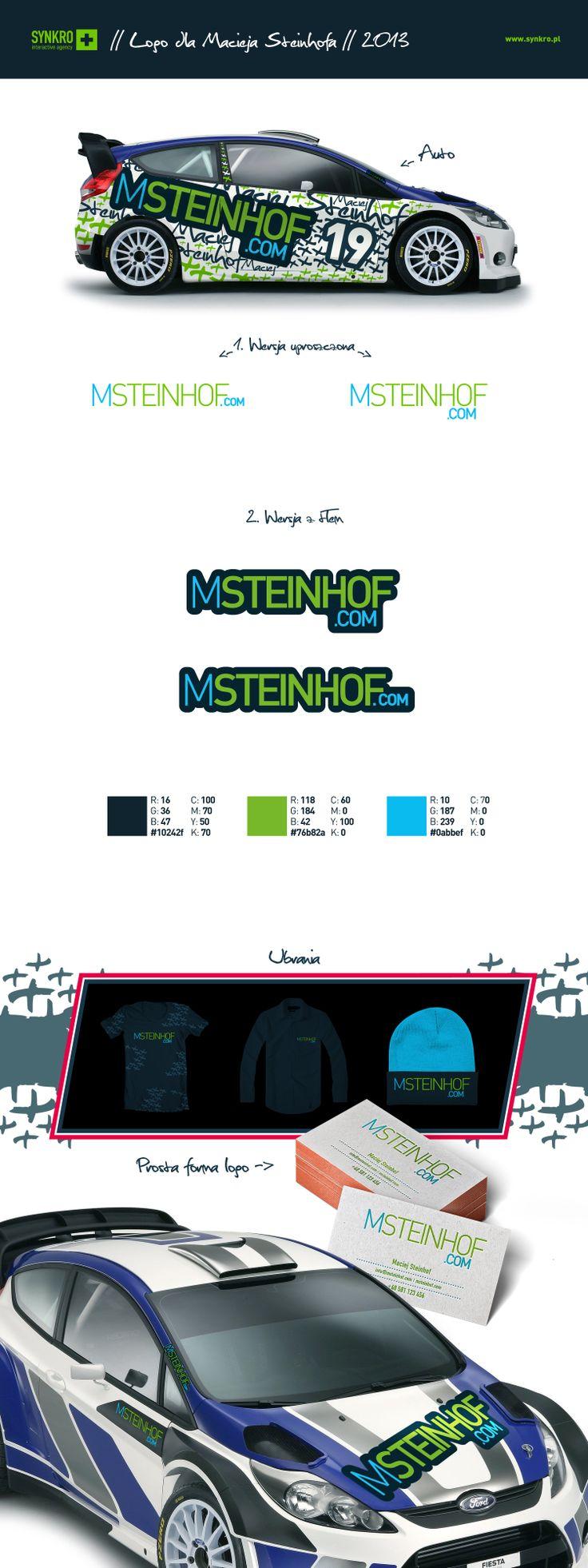 Branding for Maciej Steinhof, racing driver. #logo #logotype #id #identity #design #synkro #synkrointeractive #carbone #steinhof #maciejsteinhof #racing #rally #adac #volkswagen #volkswagencup #barborka #rajdbarborki #lodzdesign #lodz
