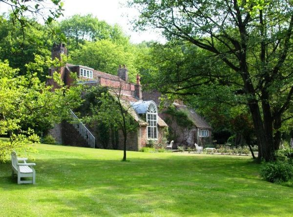 Tickerage Mill rear view of the Main House at the former country home of actress VIVIEN LEIGH, Uckfield, East Sussex, England, UK.