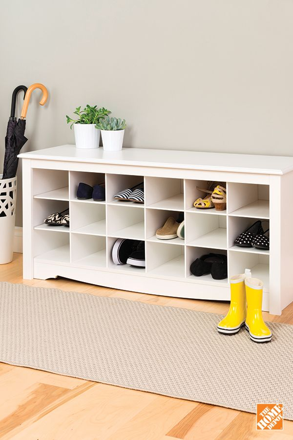 Is it possible to have too many shoes? Not if you have a place to put them! Learn more about the Shoe Storage Cubbie Bench at homedepot.ca: http://hdepot.ca/2xLxdV7