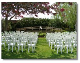Carruther's Creek Golf Centre of Ajax, Ontario, Canada - Outdoor Weddings  Also available is our indoor Tropical Garden greenhouse with a life size waterfall.