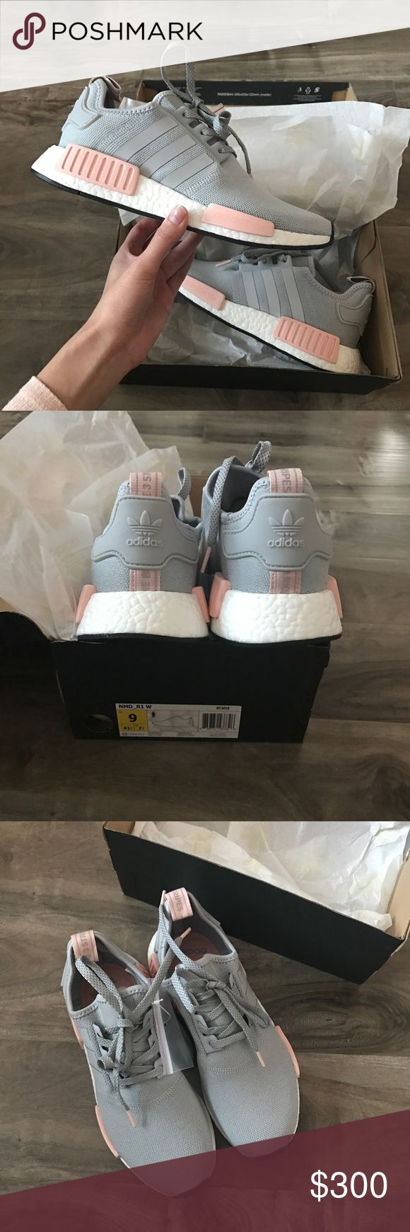 "• adidas nmd r1 • Brand: Adidas Size: 9 Condition: Brand new in box, only tried on. Description: NMD R1 ➕Additional pictures upon request. ➕Pls ask ALL questions prior to purchasing. ➕Offers via offer button, only pls. ➖No trades, no holds, no ""lowest?"" Adidas Shoes Sneakers"