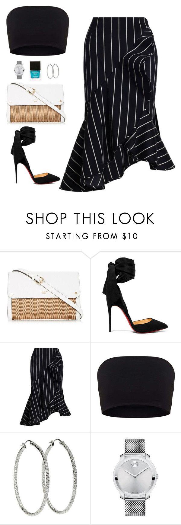 """Untitled #591"" by hayleyl22 ❤ liked on Polyvore featuring Christian Louboutin, Zimmermann, Movado and Butter London"