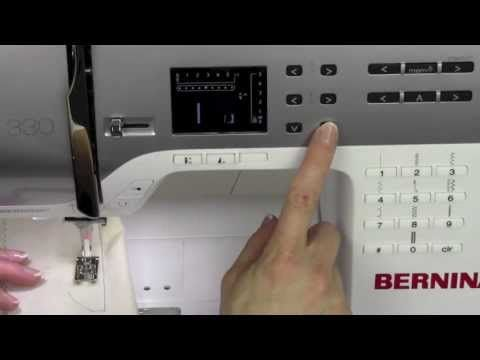 Bernina 330 04 Selecting Stitches - YouTube