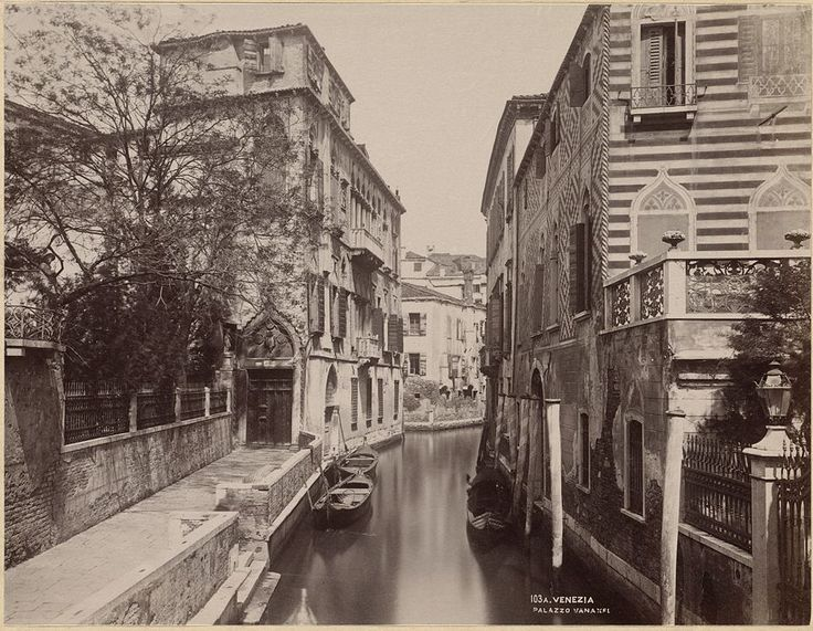 View of Canal in Venice by Carlo Naya
