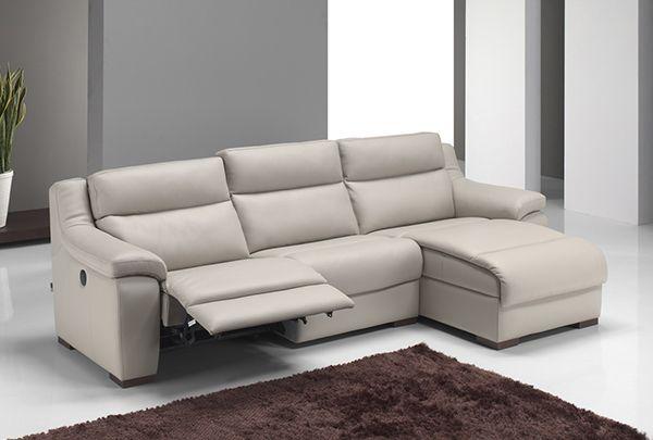 Modele Pacheco Canape Contemporain Avec Chaise Longue En Cuir Epais De Qualite Superieure Et Relax Electrique Integre Sectional Couch Couch Relax