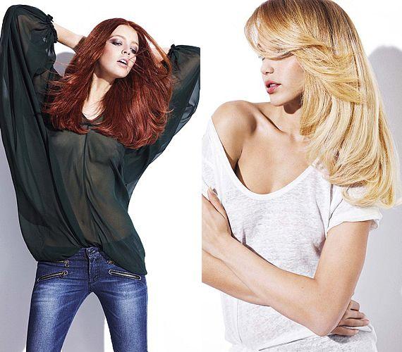 Az intenzív színű, festett haj is lehet természetes hatású, ha követed az új beszárítási módokat.