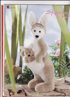 Free Plush Kangaroo Pattern - Skippy Kangaroo