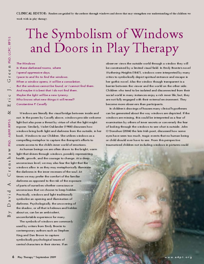 The Symbolism of Windows and Doors in Play Therapy.pdf - Google Docs - pinned by Private Practice from the Inside Out - visit AllThingsPrivateP...