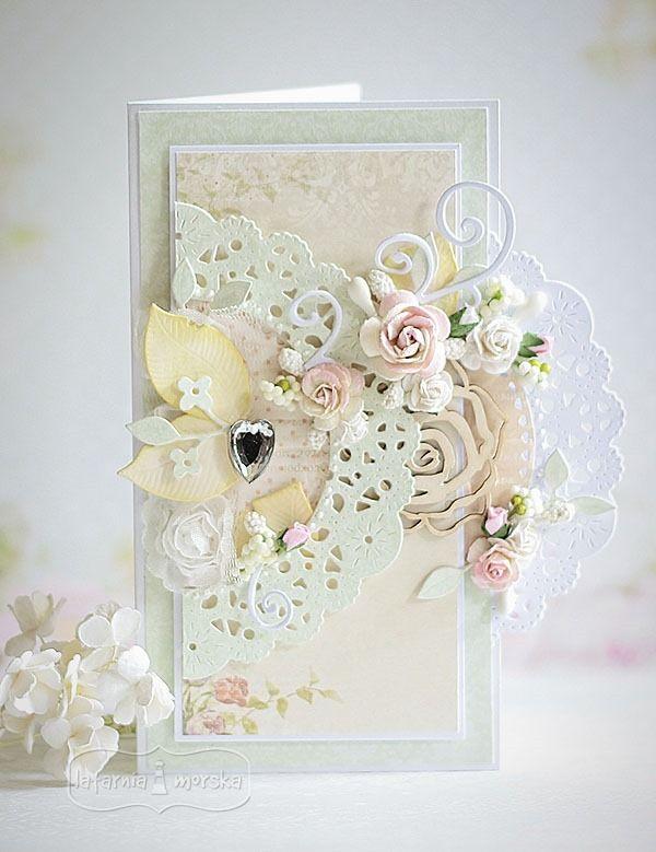 Przestrzenna kartka ślubna
