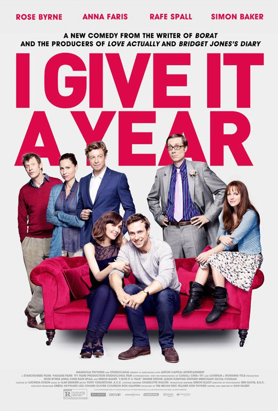I Give It a Year, really enjoyed this film, very funny