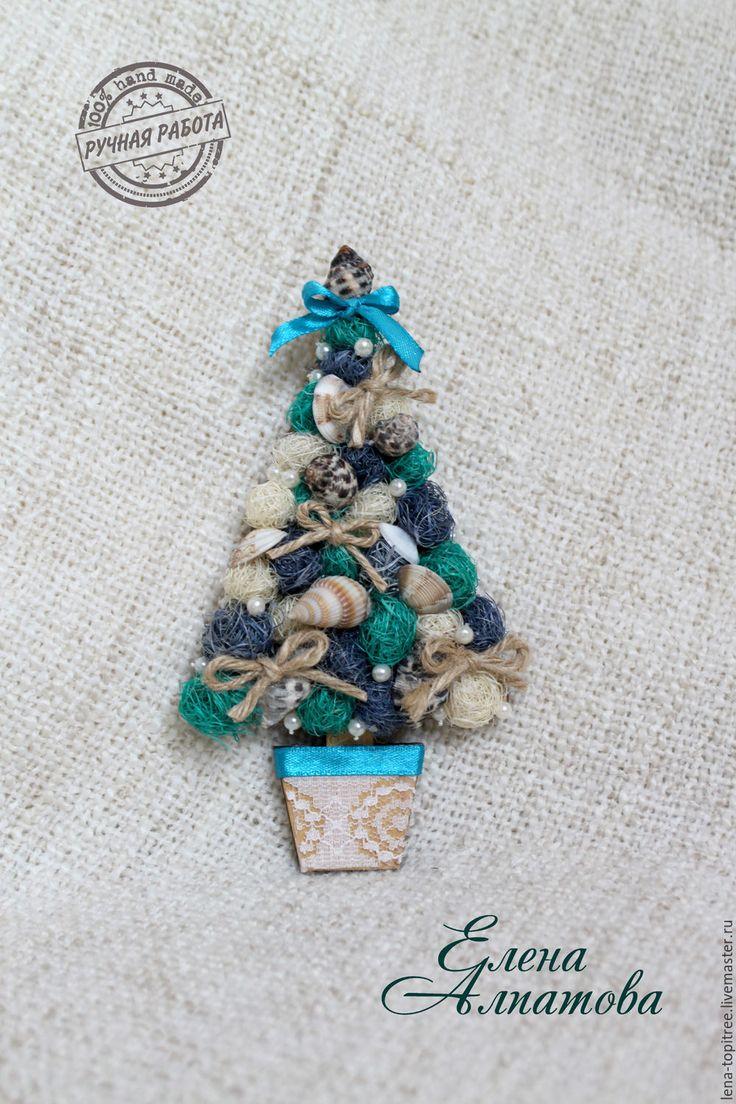 Купить Новогодний магнит. Морская ёлочка - морская волна, подарок на новый год, новогодний подарок