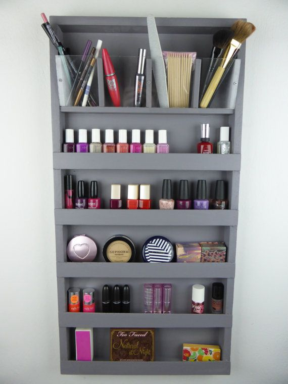 Grey Make up organizer - bathroom storage - pencil ...
