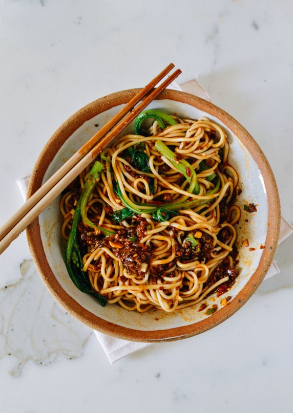 Dan Dan Noodles, by thewoksoflife.com, this recipe has been approved by our toughest critics!