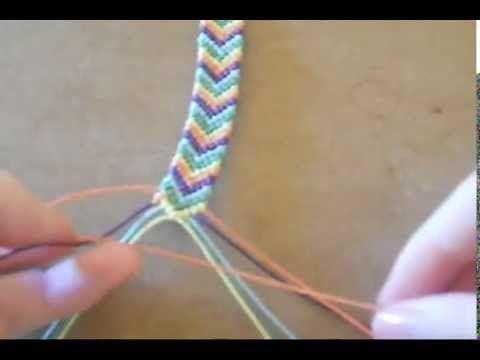 Pulseras (brazaletes) en nudo básico de macramé - YouTube