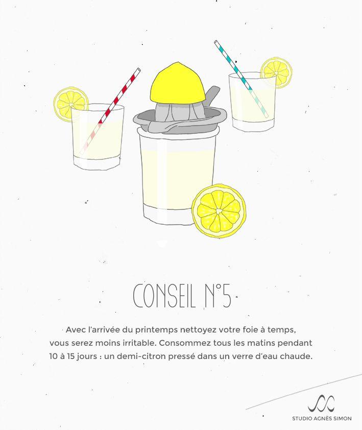 Les Conseils d'Agnès. Conseil n°5 #printemps #citron #sain Retrouvez Agnès sur www.studioagnessimon.com