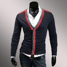 moda para Hombre chaqueta de punto diseñador Slim Fit cuello en v Hombre de la cachemira suéteres Jersey Hombre Sueter Masculino